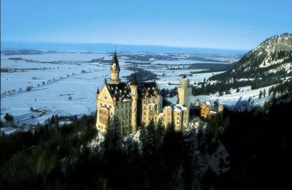 Noišvanšataino pilis Bavarijoje.