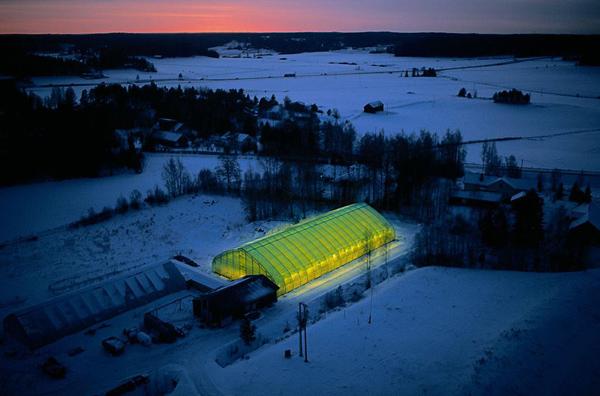 Šiltnamis Varsinais-Suomi regione.